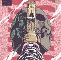 Skull & Beer. A Illustration project by Jordi  Salvador         - 24.03.2014