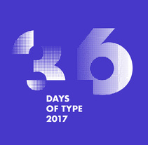 36 Days of Type 2017. Monocromatico. A T, and pograph project by Manolo  Guerrero - 30.03.2017