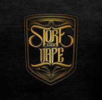 "Logo lettering ""Store and vape"". A Design, Illustration, Advertising, Br, ing, Identit, Graphic Design, Marketing, Product Design, T, pograph, Calligraph, and Lettering project by Homar Aparicio          - 04.04.2017"