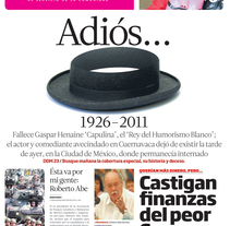 Diario de Morelos. A Design, Art Direction, and Editorial Design project by Christian Martin  Sánchez Uribe - 01-01-2007