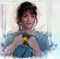 Margot Kidder ( Lois Lane). A Illustration, Film, Video, and TV project by Ismael Alabado  - 07-04-2017