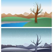 Cartel Spring/Winter Tree. Um projeto de Ilustração de Ricardo Saraiva         - 17.04.2017