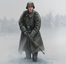 Granadero alemán 1944. A Illustration project by Rubén Megido         - 12.04.2017