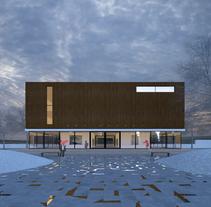 3D Edificio exterior. A 3D, and Architecture project by Sergio  Fernández Moreno         - 25.04.2017