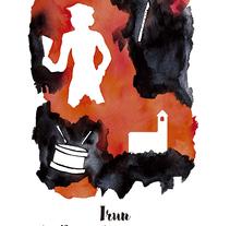 """""""Esencia"""" Cartel presentado al Concurso de Carteles de las fiestas de San Marcial de Irún. Um projeto de Artes plásticas, Design gráfico e Pintura de Nuria Córdoba Campos         - 28.04.2017"""