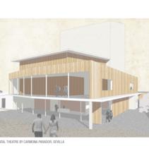 Experimental theatre by Carmona Parador, Sevilla. Un proyecto de Arquitectura de martacmateo - 01-06-2015
