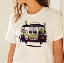 Zombie Van T-Shirt Design. A Illustration project by Pedran  Ramírez Redondo - 11-05-2017
