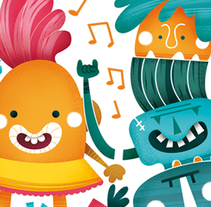 MonsterParty. A Illustration, and Vector illustration project by Laura García Mañas - 16-05-2017