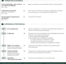 CV Visualizado. A Information Design project by Ana Sánchez Martínez         - 18.04.2017