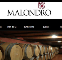 Celler Malondro. A Web Development project by xavier sala         - 01.06.2017