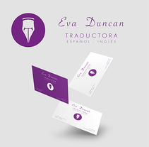 Branding - Eva Duncan - Traductora. Un proyecto de Br, ing e Identidad y Diseño gráfico de Javier  A.G. - 09-03-2016