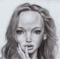 Jennifer Lawrence - Caricatura. Um projeto de Ilustração e Artes plásticas de Gerson Eric Pereira Rafael         - 09.06.2017