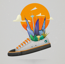 There´s life in my sneaker. A Design, Illustration, and Fine Art project by Javi Travi - 10-06-2017