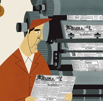 Revista Hermes Monográfico 80 años  del periódico eguna. Un proyecto de Ilustración de Ruth Juan - 12-06-2017