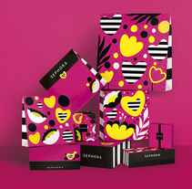 Sephora Limited Edition Packaging. A Design, Illustration, Packaging, and Pattern design project by Andreea Robescu - 23-06-2017
