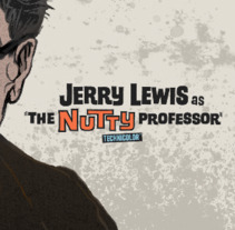 """Jerry Lewis as ·The Nutty Professor"""". A Illustration project by ʝ. NEZNA         - 28.02.2018"""
