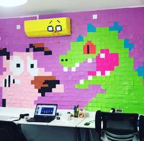 Mural de post-its | Cartoons. Un proyecto de Paper craft de Tiff Galvän         - 28.04.2016