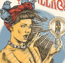 The Lumineers. Un proyecto de Diseño, Ilustración, Música, Audio, Dirección de arte, Diseño de personajes, Eventos, Bellas Artes, Serigrafía, Caligrafía y Lettering de Guillem Bosch Ramos         - 13.07.2017