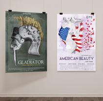 20 CARTELES DE OSCAR. Un proyecto de Ilustración, Cine, vídeo, televisión, Bellas Artes, Diseño gráfico, Cine e Ilustración vectorial de Juanjo Murillo - 15-07-2017