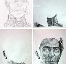 Simón Bolívar - Portrait in pointillism.. Um projeto de Ilustração de Seric Rhenals         - 16.07.2017