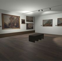 Sala con cuadros Museo San Telmo (Donostia - San Sebastián, España). Un proyecto de 3D, Arquitectura y Arquitectura interior de Sergio Hernando         - 19.07.2017