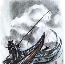 """""""El pescadorcito Urashima"""": Introducción a la ilustración infantil. A Illustration project by Miguel Gosálvez Mariño         - 22.07.2017"""