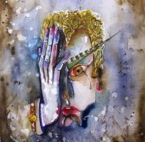 """""""Aún no me has derrotado"""" Acuarela sobre papel Michel.  25 x 27 cm. 2.017.. Um projeto de Artes plásticas de Juan del Pino Escabias         - 24.07.2017"""