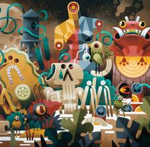 Pinturas recientes.. A Illustration, Character Design, and Fine Art project by Raúl Zeptiror         - 24.07.2017