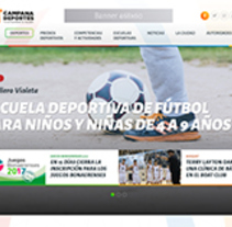 Diseño Web Responsive Portal de Deportes de Municipio. Un proyecto de Diseño Web de Sebastian Sosa Dumé         - 26.04.2017