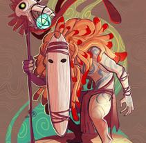 Forest Soothsayer. Um projeto de Design, Ilustração e Design de personagens de Gema Moratilla - 29-08-2017