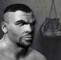Mike Tyson - Zbrush. A 3D, Character Design, and Sculpture project by Diego Torres         - 29.08.2017