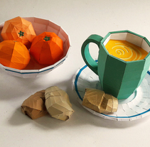 Bodegón poliédrico. Un proyecto de Paper craft de Monica Pasco - 31-08-2017