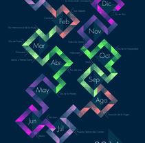 CALENDARIO 2016. A Graphic Design project by Tania Villegas         - 08.09.2017