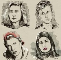SKAM Digital Portraits. Um projeto de Ilustração e Artes plásticas de Juanjo Murillo - 13-09-2017