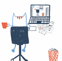 Working hard!. A Design, Illustration, Character Design, Fine Art, and Graphic Design project by Svit Baydak         - 13.09.2017
