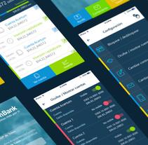 """Acertum-Bank"" app. A Graphic Design project by Iván Prieto Garrido         - 04.10.2017"