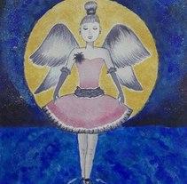 Mi Proyecto del curso: Dame alas para volar y conseguiré la luna. A Illustration project by Carmen QB - 08-10-2017