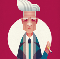 David Lynch. A Illustration, and Vector illustration project by Ricardo Polo López - 13-10-2017