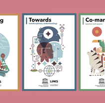 UNESCO 18 posters ilustrados EXPOSICIÓN ITINERANTE. A Illustration, Art Direction, and Graphic Design project by Del Hambre         - 16.10.2017