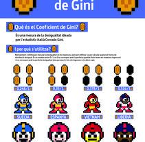 Nomograma de Coeficiente de GINI. A Graphic Design&Information Design project by Xavier Garí Aragón         - 15.06.2016
