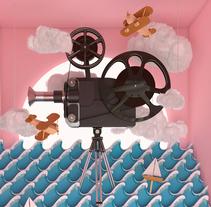 Propuesta cartel del 21 FESTIVAL DE MÁLAGA. CINE EN ESPAÑOL 2018.. A Illustration, 3D, Graphic Design&Infographics project by Estudio Extramuros  - 03-10-2017