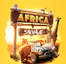 África Salvaje. A Design, Advertising, Photograph, 3D, Graphic Design, and Digital retouching project by Junior Pabon         - 18.10.2017