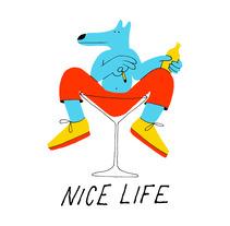Nice Life T-shirt, Everpress, UK. A Illustration project by David Palma - 19-10-2017
