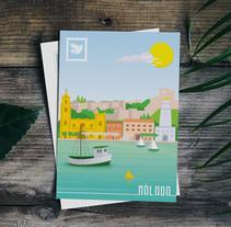 Tarjeta Postal Málaga Pop. A Graphic Design project by Lisa Fernández Karlsson - 26-10-2017