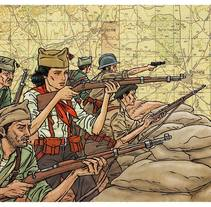 Guerra civil. Um projeto de Ilustração de david ouro         - 06.11.2017