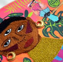 Ilustración bordada sobre la mujer en el mundo. Un proyecto de Diseño, Ilustración, Diseño de vestuario y Artesanía de Angela Hernandez - 09-11-2017