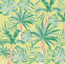 Tropical wallpaper. A Collage project by Clara Berretta         - 09.11.2017