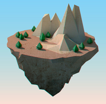 Floating Island. A 3D, and Animation project by Alberto Mateo Rodríguez         - 03.11.2017