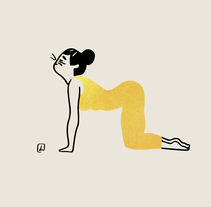 Yoga time. A Illustration project by Judit Canela         - 10.11.2017