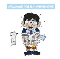 """Este es mi proyecto final del curso sobre el humor gráfico con un pequeño resumen ilustrado sobre todo lo que rodea la """"independencia"""" de cataluña, espero que os guste.. A Comic project by patriciacufer - 15-11-2017"""